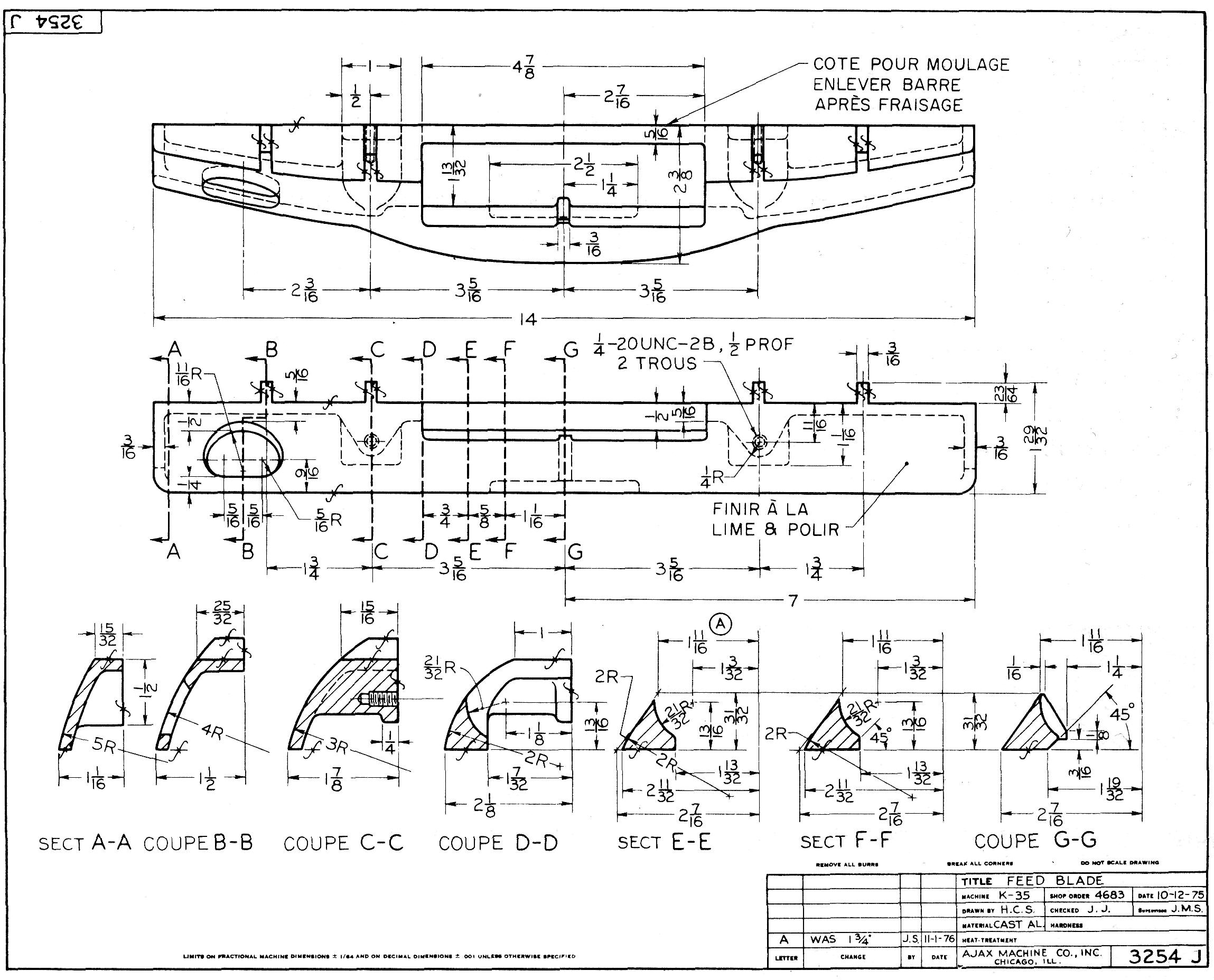 Coupes compl tes - Coupe et section dessin technique ...