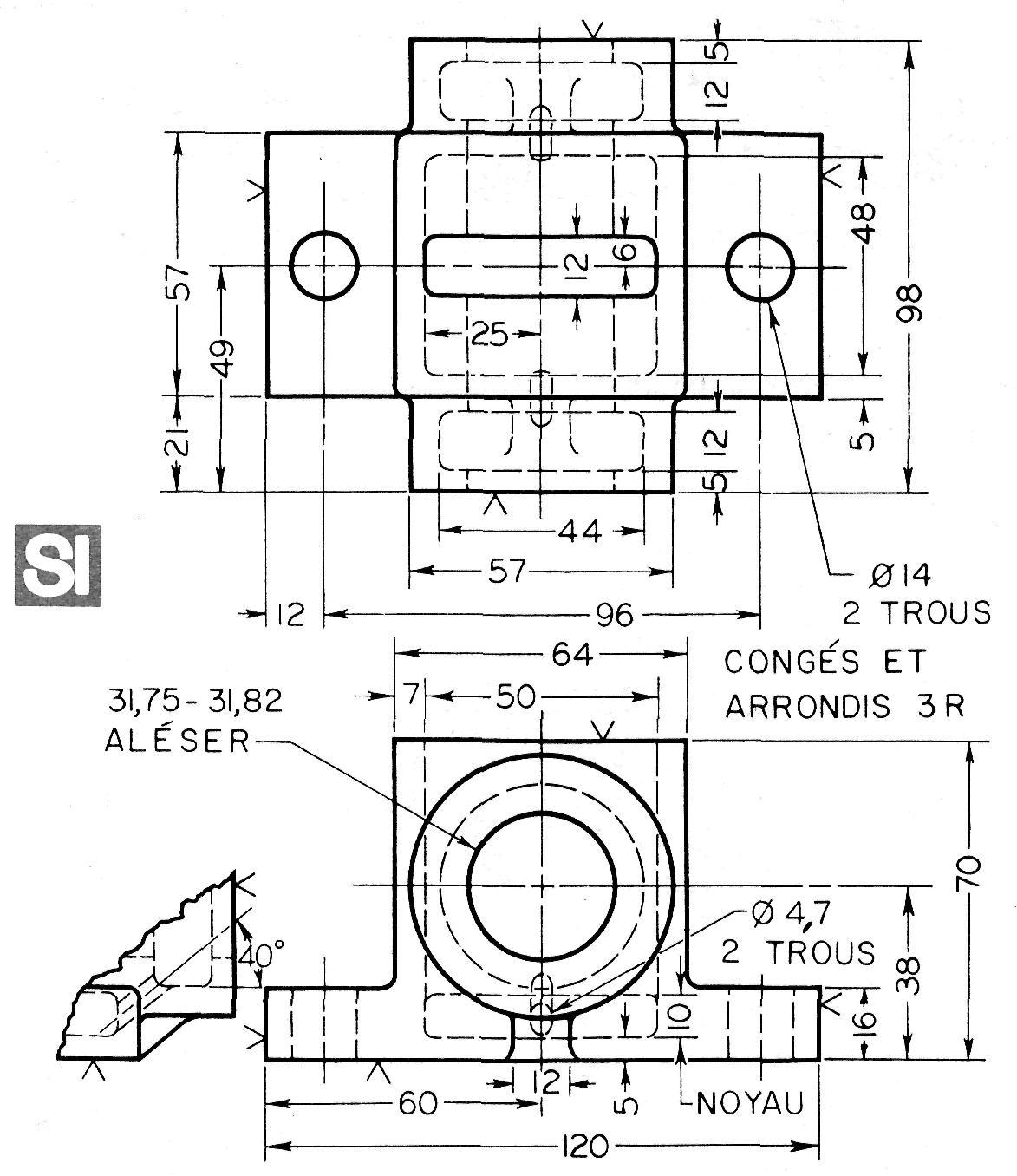 Probl mes sur les coupes et les - Coupe et section dessin technique ...