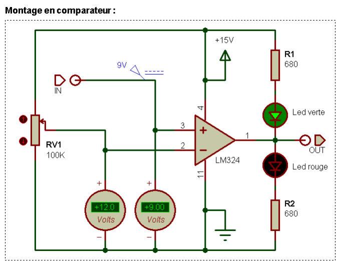 Amplificateur op rationnel for Comparateur de comparateur hotel