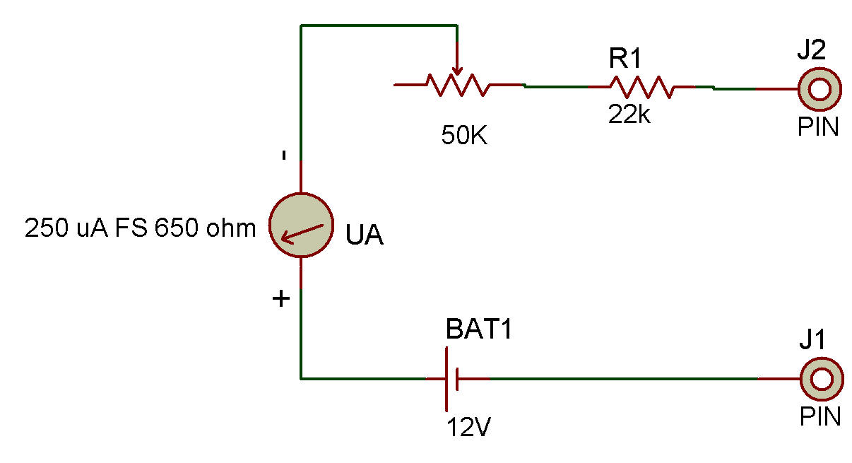 Example Of Ohmmeter Circuit : Circuit diagram of a series type ohmmeter and