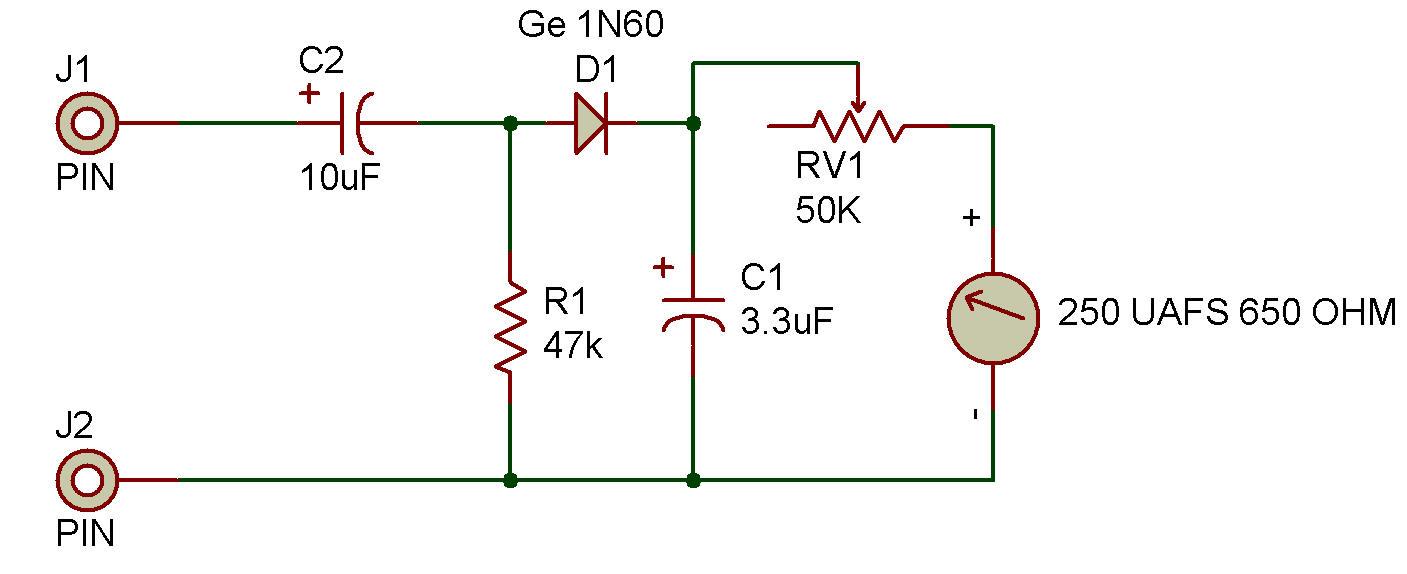 Audio Output Meter Stereo Vu Booster Circuit Diagram