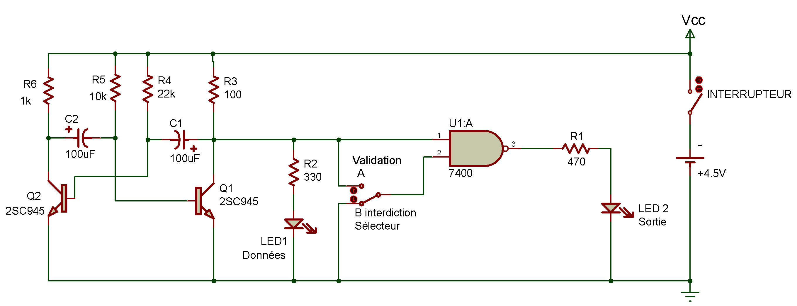 84 2 Input Ttl Nand Gate Electrical Characterization Of 7400 Quad 2input Pin Layout Enable Circuit