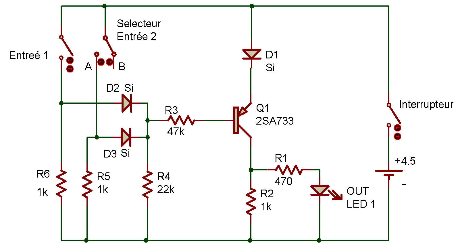 Diode circuit logique 28 images diode circuit logique for Porte nand transistor