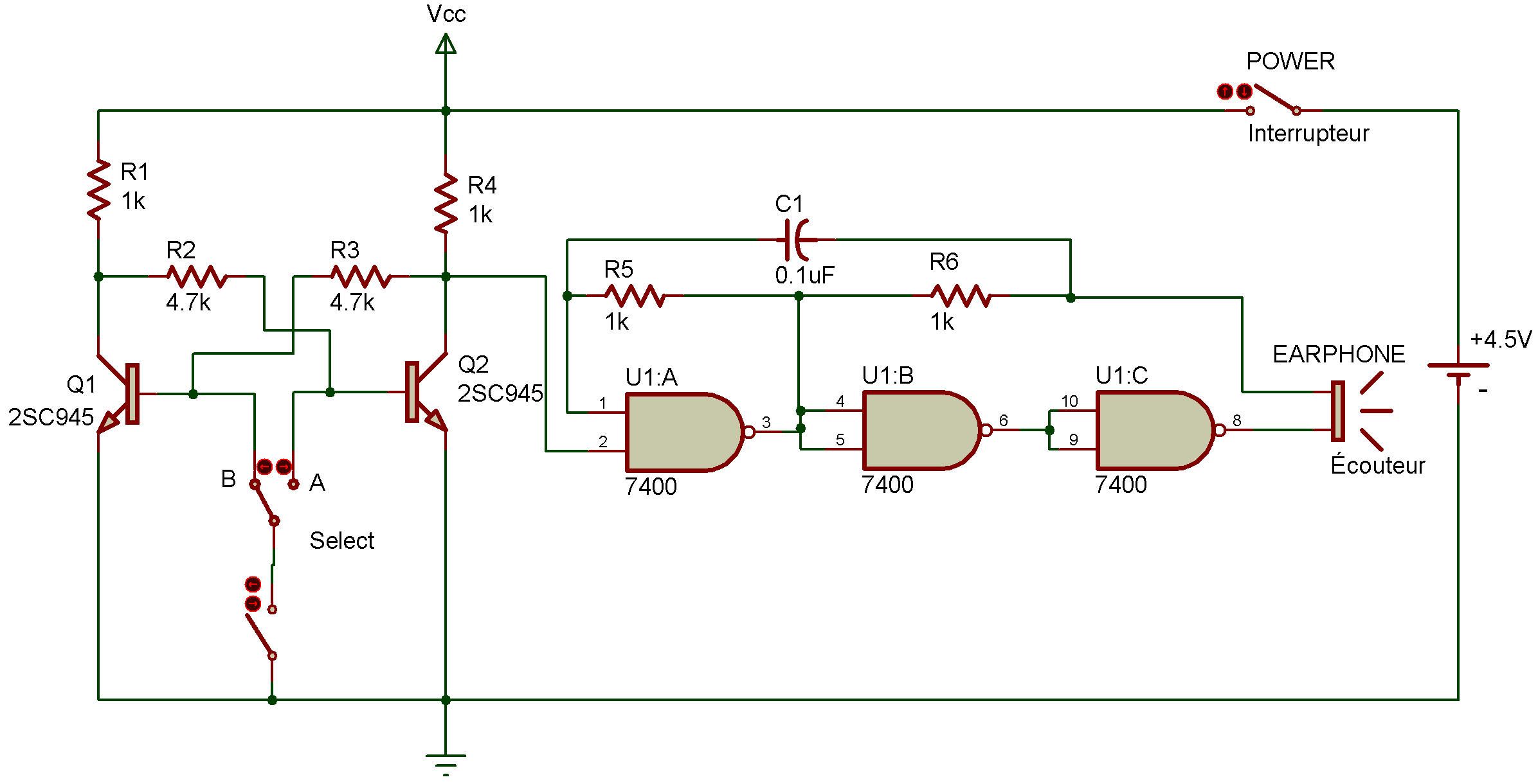Set Reset Buzzer 3 How To Build Monostable Flip Flop Heres Another Version Of Our Last Two Projects This Time We Used A Nand Multivibrator And An Rs Made Using Transistors