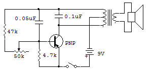 Code Practice Oscillator with Tone Control