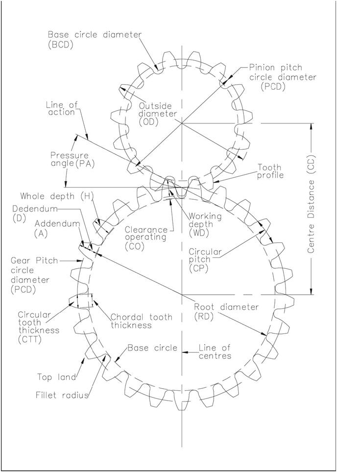 base diameter of gear