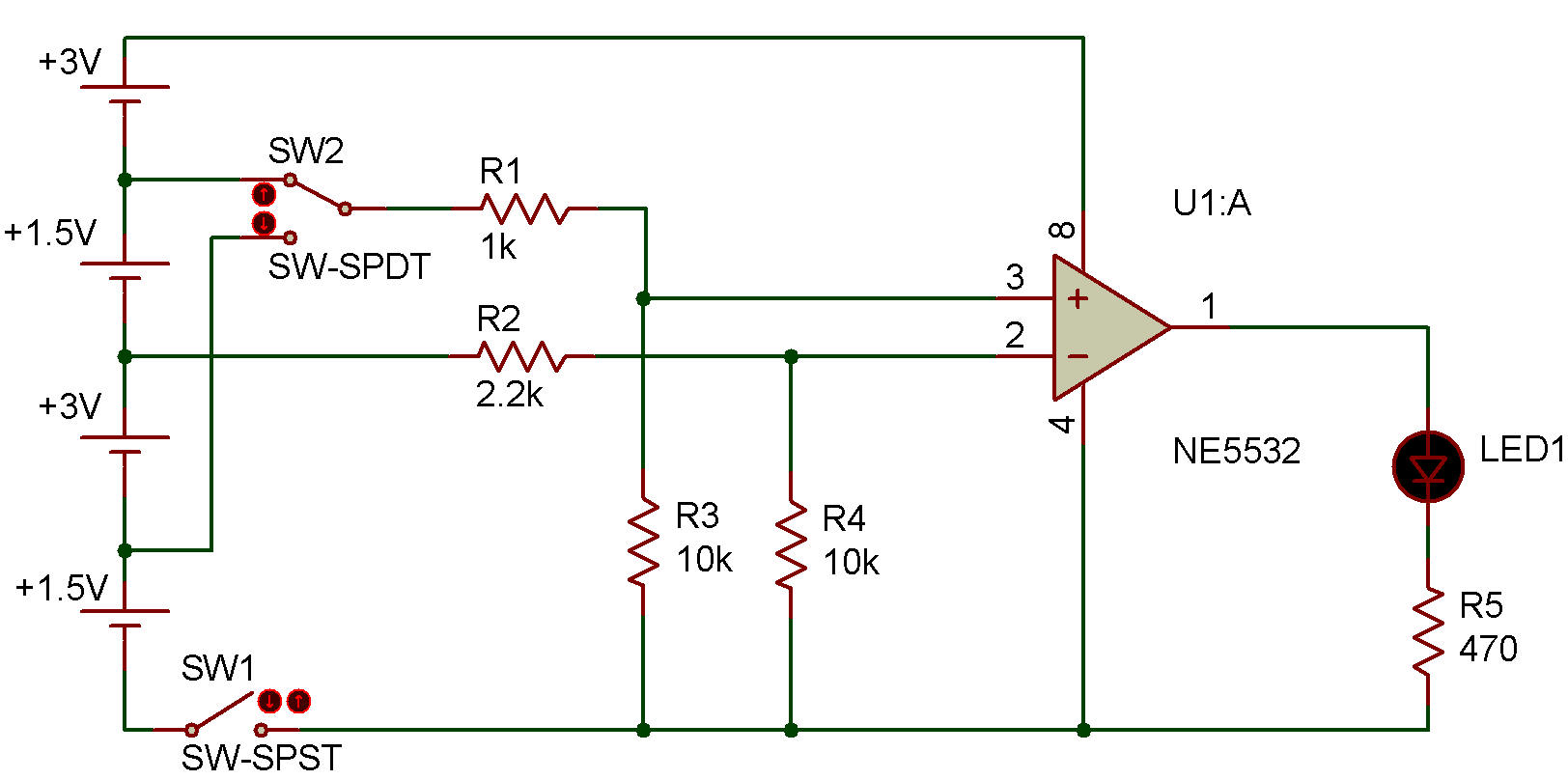 Comparator Op Amp As Circuit With This The For Section You Will Need Some Basic Knowledge About Operational Amplifier Integrated First We Can Use One Power Source Both